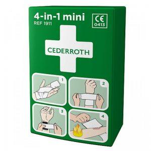 Cederroth Bloodstopper Μικρό Αιμορραγικό Επίθεμα με Ελαστικό Επίδεσμο