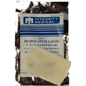 Tac Med Petrolatum Aποστειρωμένη Στεγανή Γάζα Ανοιχτών Τραυμάτων Μάχης 7.6 X 45.7 cm