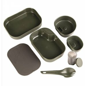WILDO Camp a Box Mess Kit 7 Pcs - Olive