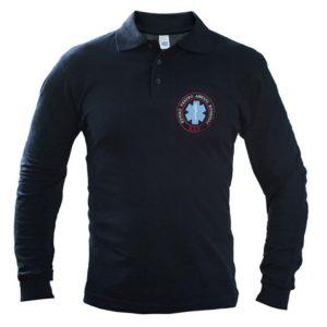 Μπλουζάκι Polo μακρύ μανίκι με κέντημα ΕΚΑΒ