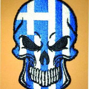 skull & greek flag 1